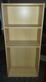 Light coloured wooden bookshelf. Excellent condition. No marks or scratches.