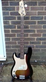 AXL Player Deluxe-Left Handed Precision Style Bass Guitar