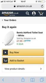 New in packaging toilet seat £5