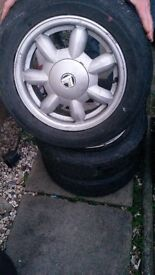 Set of 4 MX5 alloys with tyres