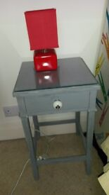 bookcase, cupboard and bedside cabinet, all distressed in Anthracite chalk paint, will seperate