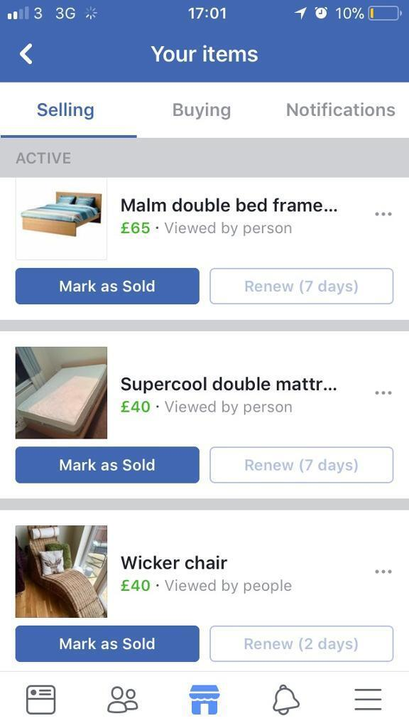 Double bed frame , double mattress