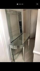 Glass mirror and Table