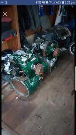 Lister pettee lpw2 marinised engines x 2