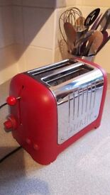 Dualit 2 Slice Red Toaster - used but excellent condition £10