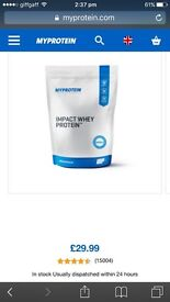 Myprotein 2.5kg unflavoured whey protein SEALED