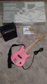 Elevation Junior Electric Pink Guitar - Ideal Birthday Present