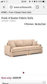 Large Cream 4 Seater Sofa - £30 ONO