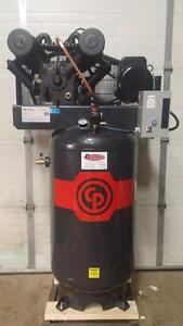 IN STOCK!!!New 7.5hp Chicago Pneumatic piston air compressors..575v and 230v 1ph and 3ph