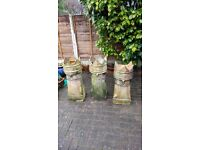 Victorian crown chimney pots/planters