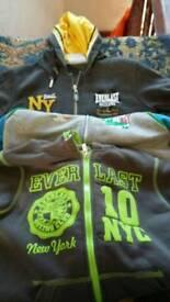3 Everlast hooded jackets