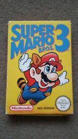 Super Mario Bros 3 NES (Ultra rare game, boxed with manual)