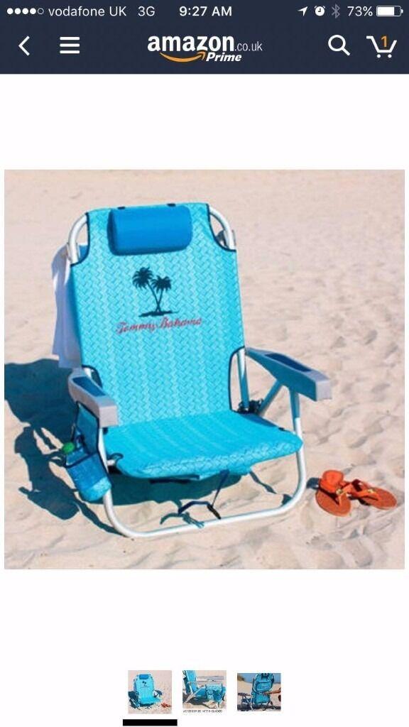 Tommy Bahama Backpack Folding Beach Chair
