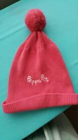 Peppa pig winter hat