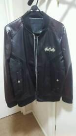 Mens Phillip Plein leather jacket