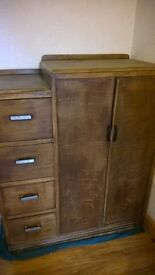 CHIFFEROBE wardrobe closet chest of drawers armoire vintage antique CAN DELIVER