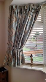 Bespoke Curtains complete with Rope / Tassle Tie Backs