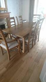 Dinning take, 6 chairs