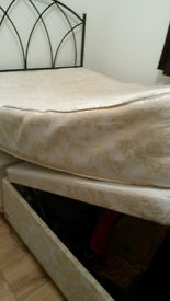 double 'ottoman storage' bed BASE & double bed headboard selling together very cheap for quick sale
