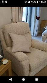 Three seater and two chairs... As brand new.. Immaculate condition 5months old full scotch gaurd