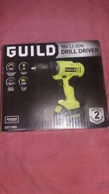 Brand new Sealed Guild 1.3AH Cordless Drill Driver - 18V li ion