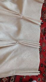 2 Pairs good quality , hand made, off white/cream curtains with free tie backs
