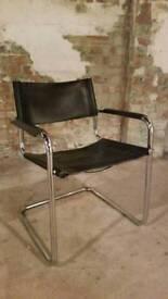 10 x Mart Stam Bauhaus Marcel Breuer Leather Vintage Cantilever Directors Chairs