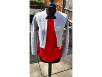 BANK CLOTHING Ladies grey cropped cardigan in size 10