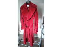 Red Reiss Ladies Coat. Smallish, Probably up to size 10.
