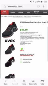 Uvex one safety trainners size 10