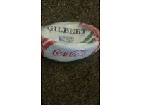 Gilbert coca cola promo rugby ball