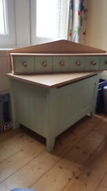 Mamas & Papas 6pce nursery childs furniture incl. cot kids bed, wardrobe, changing station & toy box