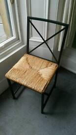 Set of 4 wicker thatch dining chairs - quick sale