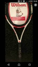 Rodger federer signed Tennis Racket with Coa