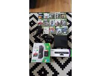 xbox 360 250gb with kinekt and many games. boxed like new