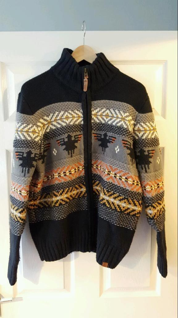 Tokyo Laundry Mens Native American Style Cardigan Size L In