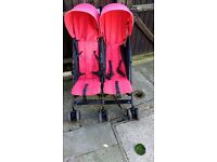O baby double buggy, well used but still in good condition