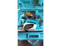 One of several 110v power tools for sale. Makita Planer N1923BD. 550W. £65. Needs blade clamps.