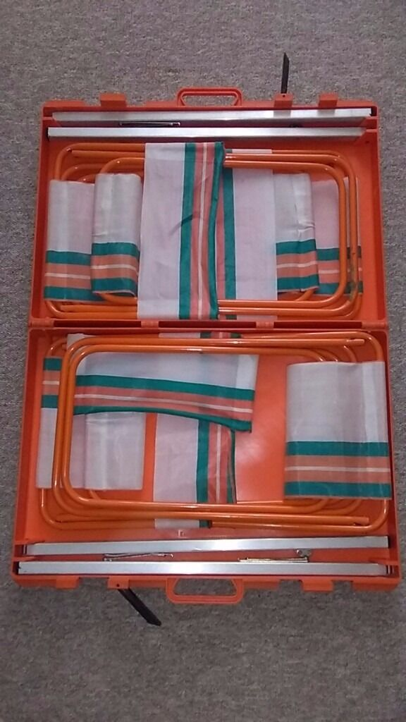 Vintage Funky Classic Collectable Fold Up Camping Table And Chairs - Car show chairs