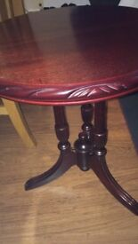 John COYLE Mahogany Rope Edge large lamp table