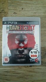 Homefront PS3 game Excellent condition