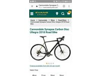 Brand new cannondale synapse carbon disc ultegra 2018 road bike