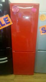 SWAN 70^30 FROST FREE FRIDGE FREEZER IN RED