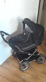 VIB GREAT PRAM WITH PUMPED WHEELS RAINCOVER MOSQUITO NET