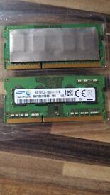 Laptop memory 2x4gb ddr3 sodimm Samsung M471B5173DB0-YK0