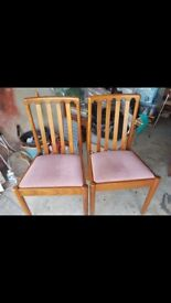 3 vintage dinning chairs £30 ono .