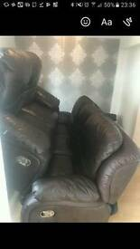 2 and 3 leather sofa