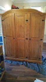 Triple Wooden Wardrobe, open to offers