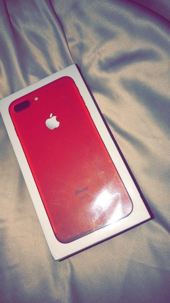 Red iPhone 7plus unlocked sealed !