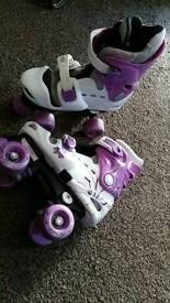 Girls skates size 13-3 adjustable